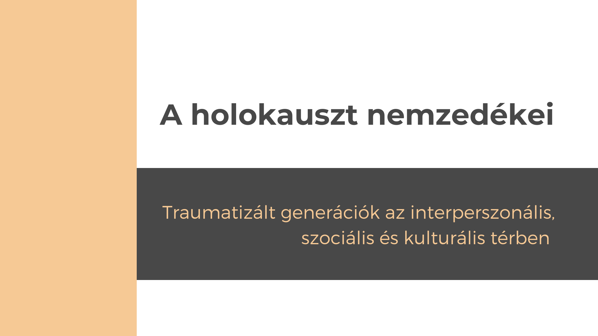 A holokauszt nemzedékei – Konferencia meghívó